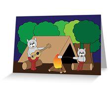Cats Camping Greeting Card
