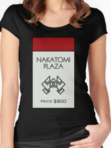 Nakatomi Plaza - Property Card Women's Fitted Scoop T-Shirt