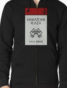 Nakatomi Plaza - Property Card Zipped Hoodie