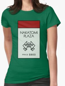 Nakatomi Plaza - Property Card Womens Fitted T-Shirt