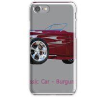 Classic car burgundy iPhone Case/Skin