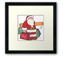 January Sale Shopping Framed Print