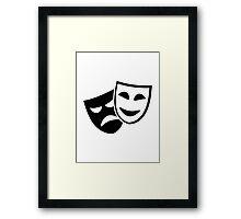 Actor masks Framed Print