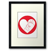 My Neighbour Totoro Heart Framed Print