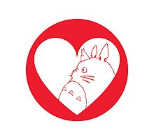 My Neighbour Totoro Heart Photographic Print