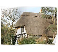 Thatched Cottage in Great Horwood Poster