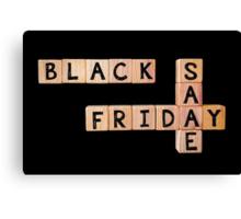 Black Friday Sale Canvas Print