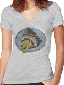 Pineapple Express Shirt  Women's Fitted V-Neck T-Shirt