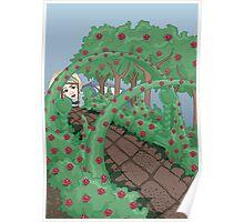 Alice Looking in the Garden Poster