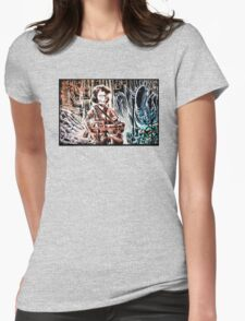 Ripley and the Alien Art Print. Aliens, Sigourney Weaver, Joe Badon, Ridley Scott, James Cameron, Drawing, illustration, sci fi, horror Womens Fitted T-Shirt