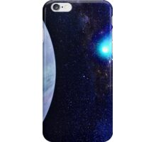 Photorealistic Galaxy background with planet  iPhone Case/Skin