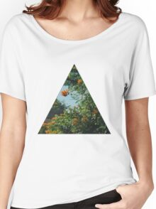 Tropical Floral Triangle Women's Relaxed Fit T-Shirt