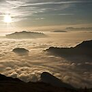 over the clouds by paolo amiotti