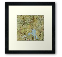 Antique Yellowstone Map Framed Print