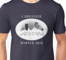 I Survived Boston Winter 2015 (Color) Unisex T-Shirt
