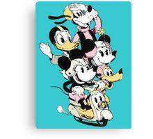 Mickey Gang Canvas Print