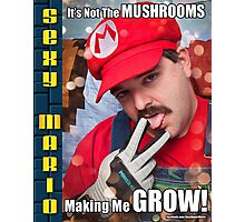 SexyMario MEME - It's not the mushrooms making me grow! 1 Photographic Print