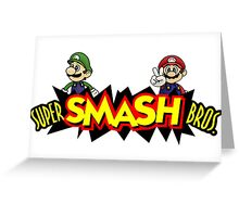 The Super Smash Brothers Greeting Card