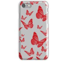 Red butterflies iPhone Case/Skin