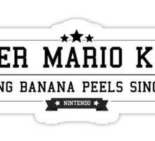 Super Mario Kart - Retro Black Clean Sticker