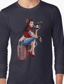 SheVibe Bomb Girl Cover Art Long Sleeve T-Shirt