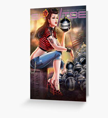 SheVibe Bomb Girl Cover Art Greeting Card