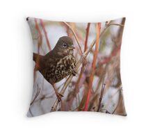 Fox Sparrow Throw Pillow