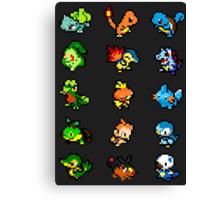 Pixel Starters Canvas Print