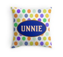 UNNIE - BLUE POLKA DOTS Throw Pillow
