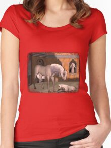 Iaconagraphy Equus: Pharaoh's Stableyard Women's Fitted Scoop T-Shirt