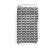 Black and Grey Art Deco Pattern Duvet Cover