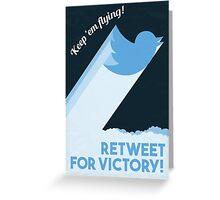 Twitter Propaganda Poster Greeting Card