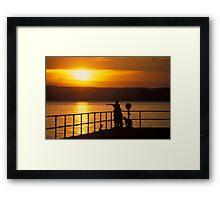 Sampson Sunset Framed Print