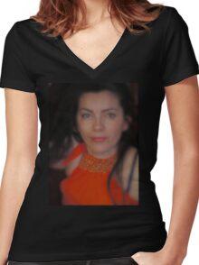 Ascolta la mia voce. Women's Fitted V-Neck T-Shirt