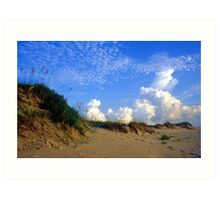 At the Dunes Art Print
