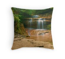 Buttermilk - Upper Falls, Ithaca, NY Throw Pillow