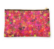 Colorful Pink Red and Gold Circles Abstract Art Pattern Studio Pouch