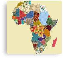 Patchwork Map of Africa Canvas Print