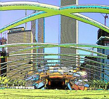 Millennium Park Concert Area as a Painting by LeeMascarello