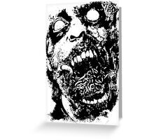 Undead Zombie Illustration Greeting Card