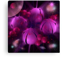 Pink Planets Canvas Print