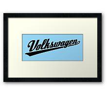 Volkswagen Sports Logo (black) Framed Print
