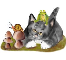 Snail, Frog and Kitten by NineLivesStudio