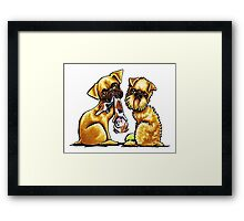 Griffs And Toys Framed Print