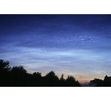 Electric Blue Noctilucent Clouds Photographic Print