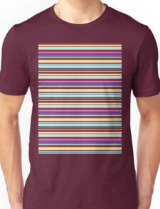 aqua stripes Unisex T-Shirt
