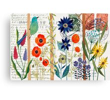 Birds with flowers Canvas Print