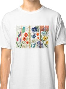 Birds with flowers Classic T-Shirt