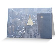 Golden Topper Greeting Card