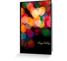 Holiday Candy in Lights  Greeting Card
